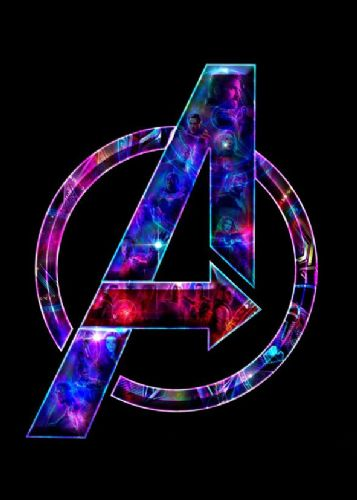 2010's Movie - THE AVENGERS - INFINITY WAR LOGO MURAL / canvas print - self adhesive poster - photo